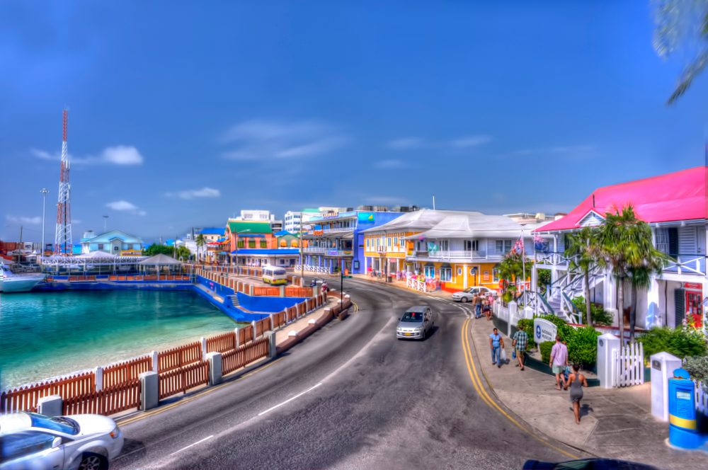 Waterfront area of George Town, Grand Cayman
