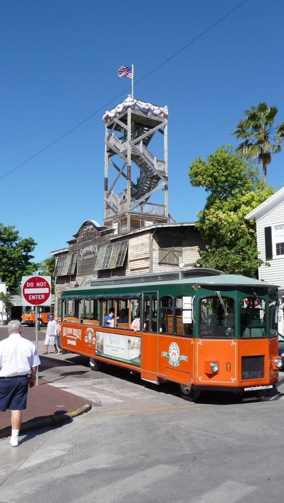 Trolley in Key West