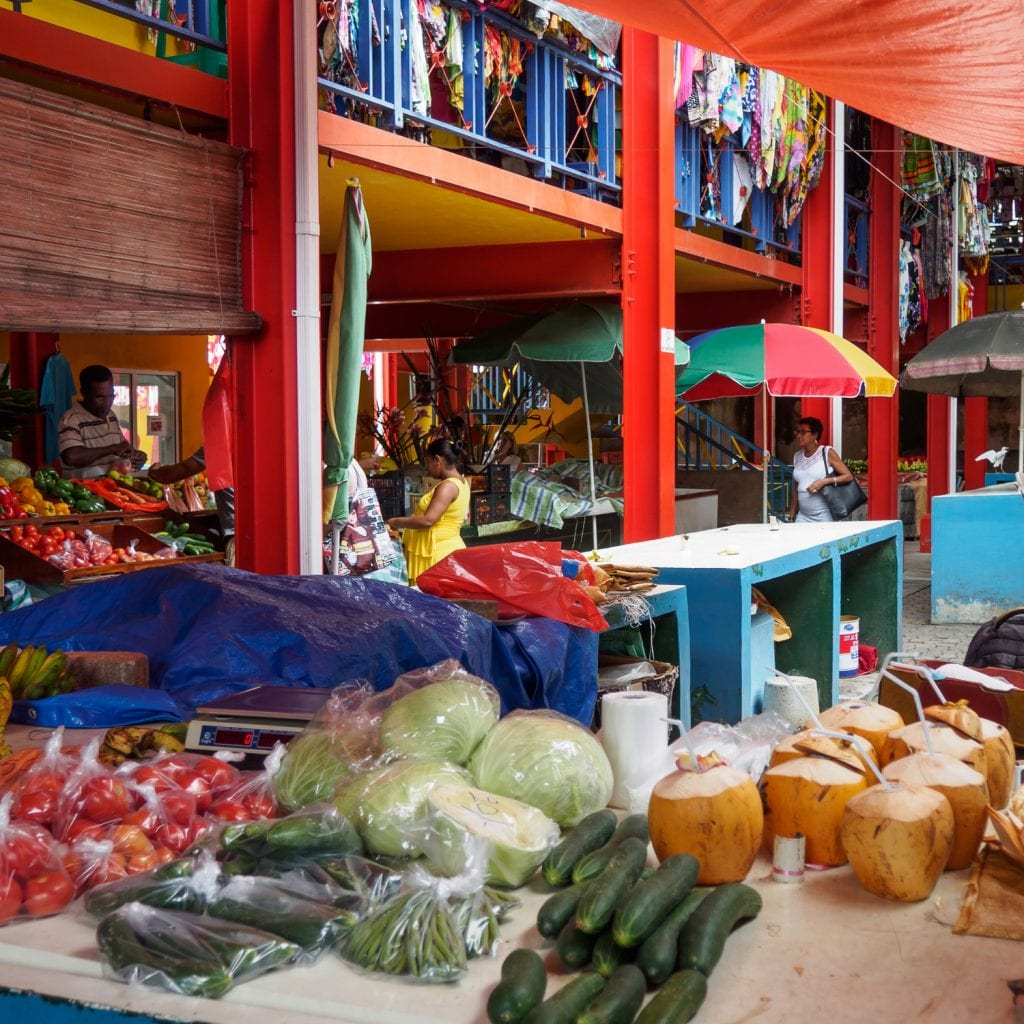 Food and craft market in Seychelles