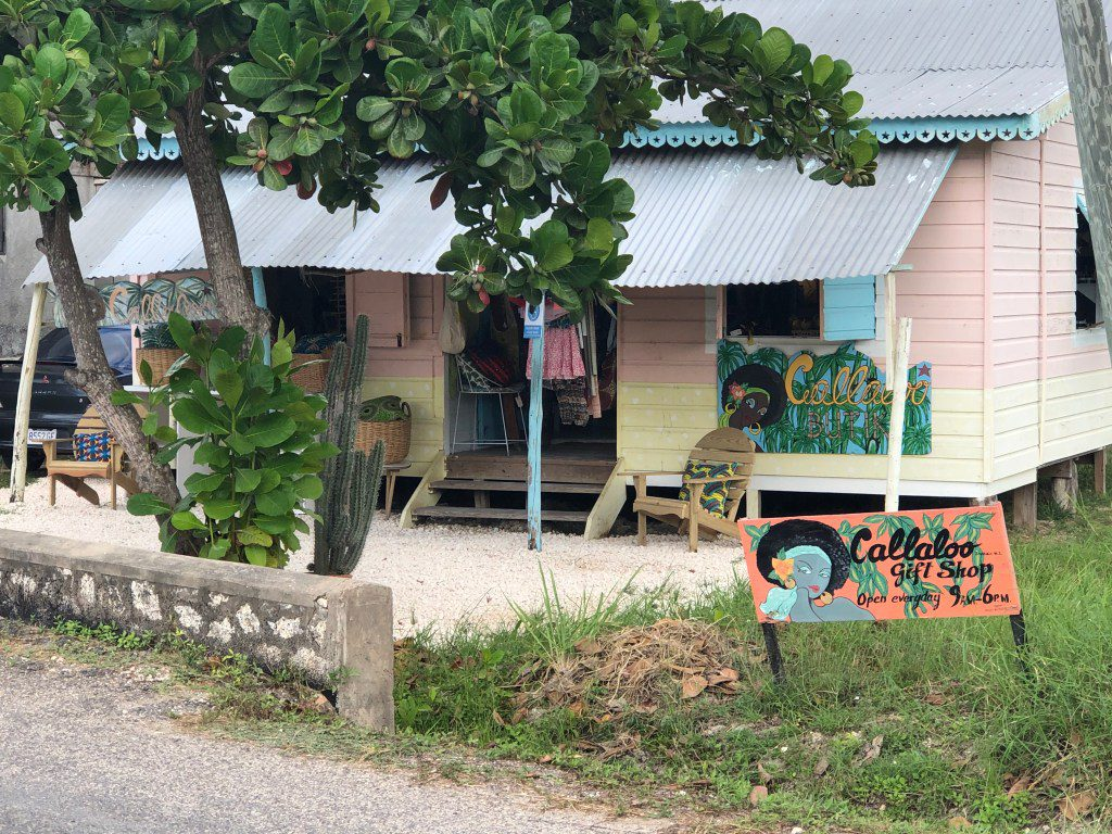 Front of a small boutique in Jamaica