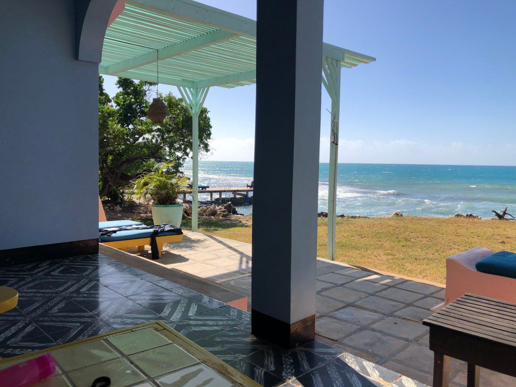 View of Caribbean Sea from cottage